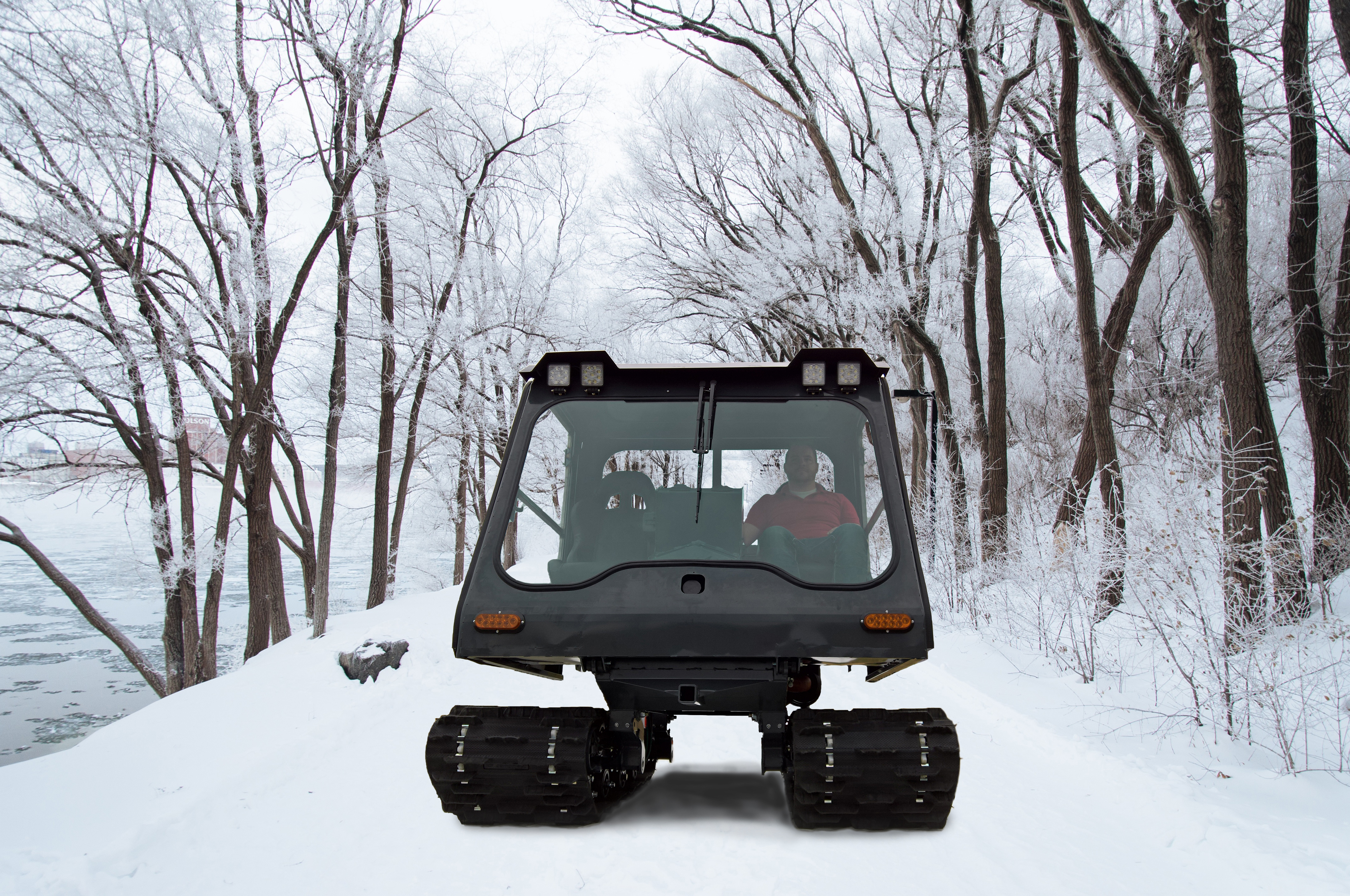 Personal Winter Tracked Vehicle, Remote Access Machine
